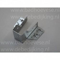 schroef RVS 70 mm.met neopreen ring