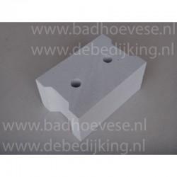 betonkantplank  100 x 6 x 25 cm  b.