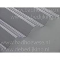 PVC golfplaat glashelder